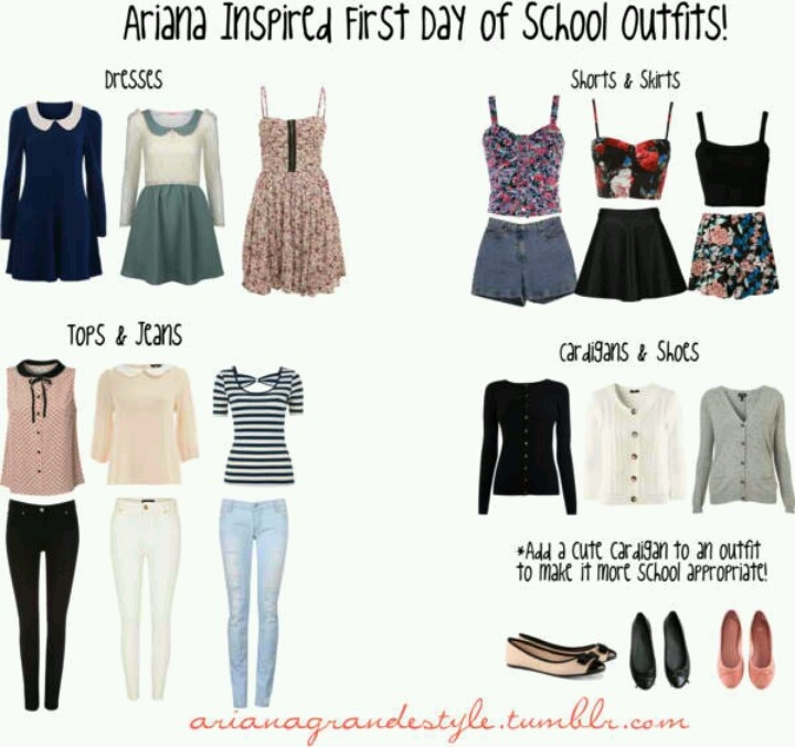Ariana grande outfits | School outfits | Pinterest | First day of school Ariana grande and Spring
