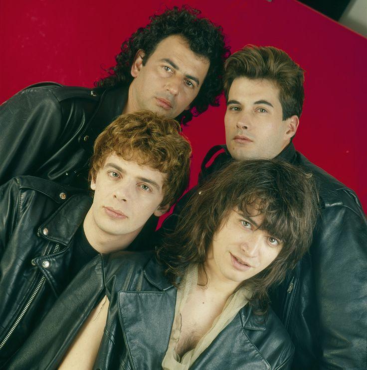 Argentine band Los Ratones Paranoicos. Buenos Aires. 1990.