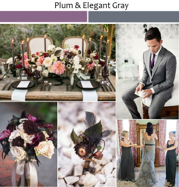 Wedding Ideas with Rustic Shades of Plum