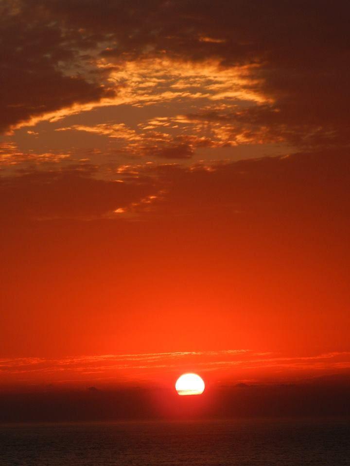 Puesta de sol en Arica- Chile.