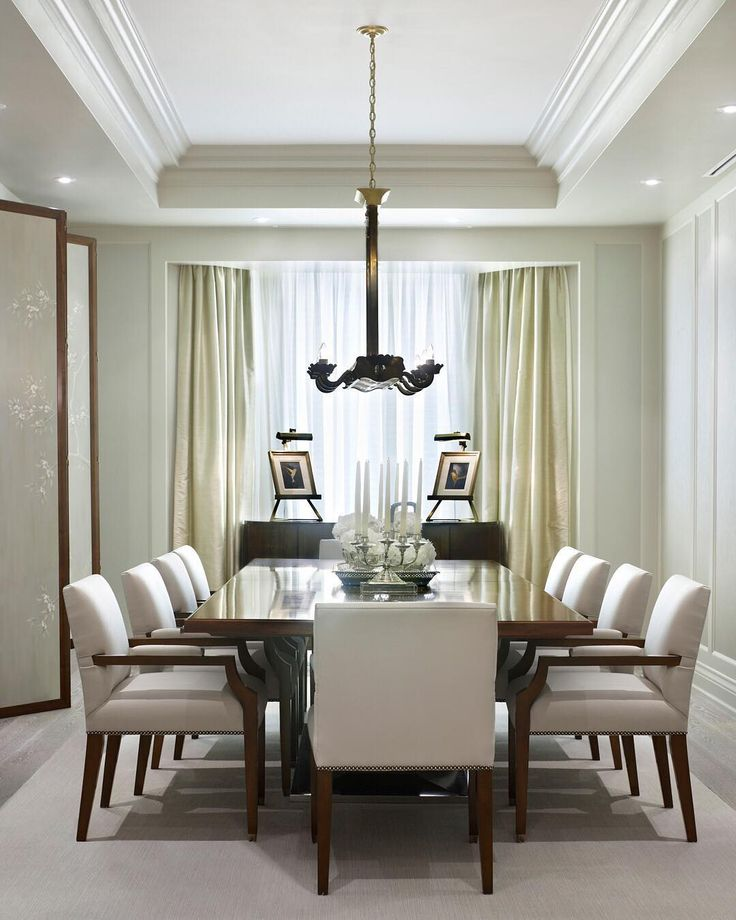 Avenue design dining room design dining area dining rooms window coverings modern classic room decor moldings 1940s