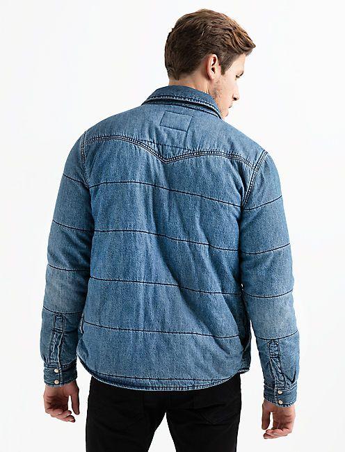 1ca5705950 Quilted Denim Shirt Jacket