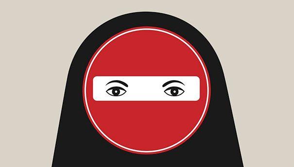 Noma Bar: Negative Space - Burqa Ban