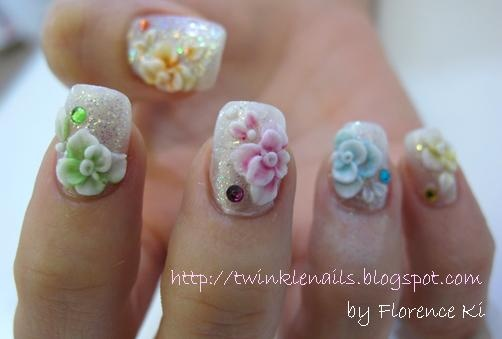 Wedding Nails, I personally would keep iy simple- just a nail or two