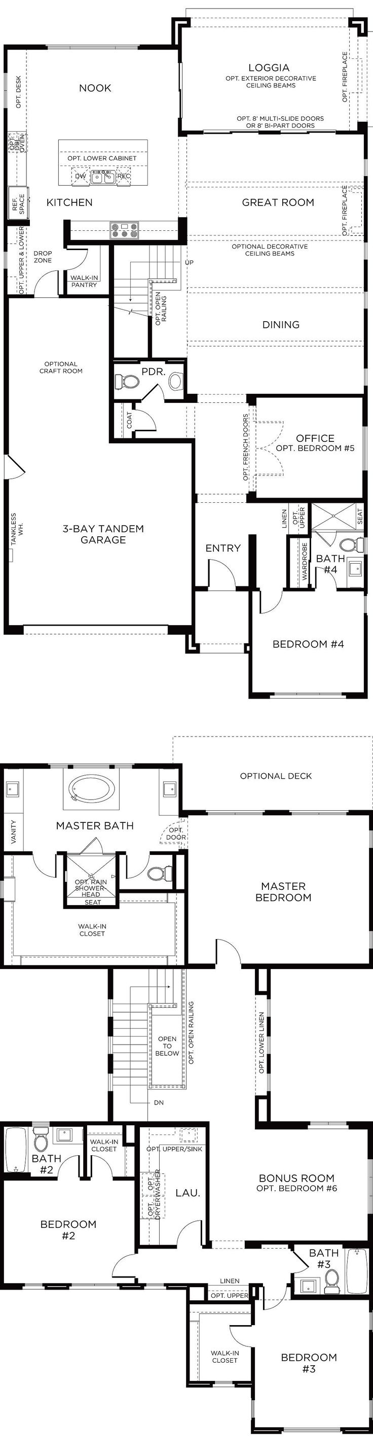 317 best san diego pardee homes images on pinterest san diego lake ridge plan 4 floorplan pardee homes san diego malvernweather Images
