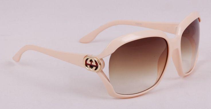 Очки Gucci (Гуччи) в оригинальной упаковке, светло-кремовый цвет оправы #19701