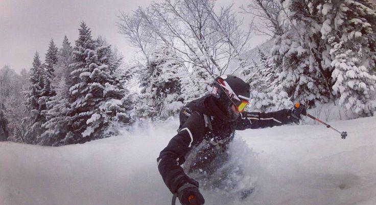 Powderday!! #lemassif  @sommets_saint_laurent  #gopro #goprooftheday #powder #pow #strom #ski #salomon #sommetsStLaurent