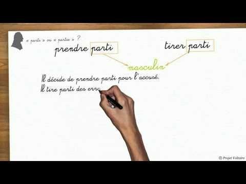 « parti » ou « partie » ?   Tests et exercices d'orthographe avec le Projet Voltaire