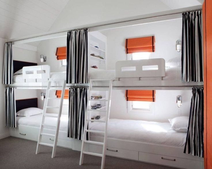 Orange With White Color Theme Bed Room Interior Design For Kids PunjabAwaitsAAP