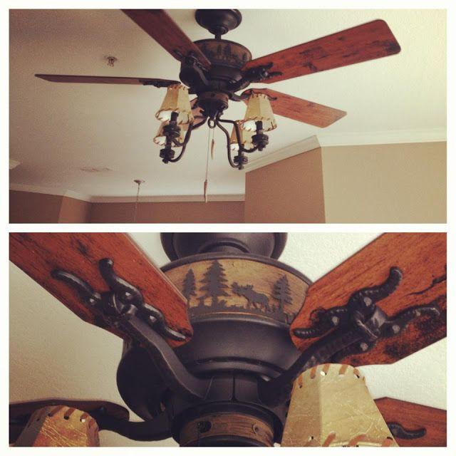 Cabin Fan Moose Bear Fan Martinez Men Blog Home Decor