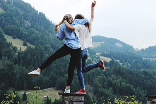 Travelling the world with your best friend.