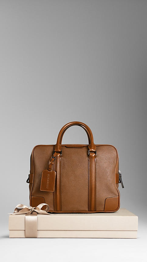 Burberry Small London Leather Holdall