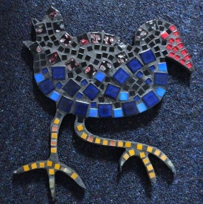 Pukeko Mosaic. Available at the Lighthouse Gallery in Bluff.