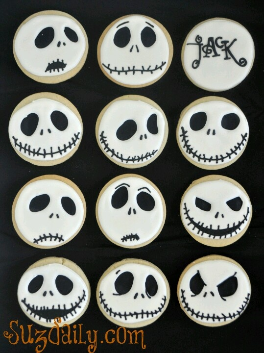 jack skellington faces cookies