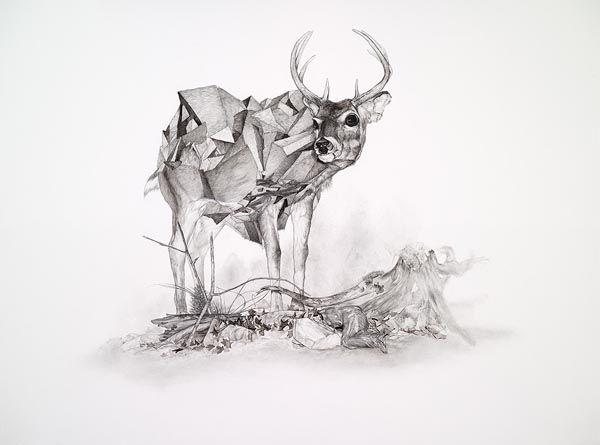 Pintura de Chris ScarboroughChris Scarborough, Geometric Deer, Geometric Pattern, Art, Pattern Deer, Creative Journals, Drawing, Deer Illustration, Design Posters