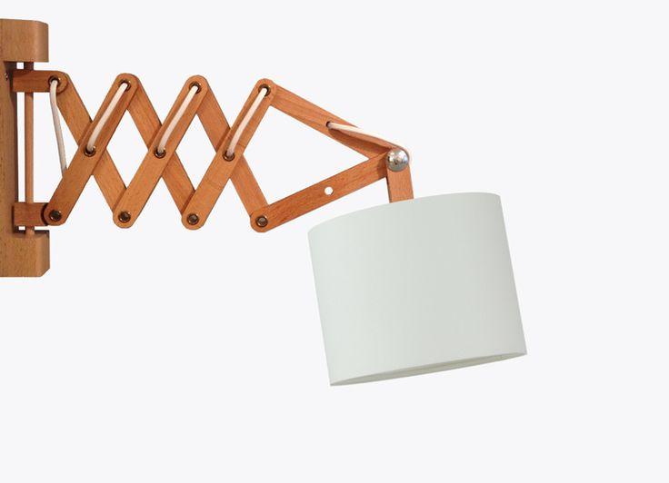 Lampe / Wandlampe / Naturweiß von amseldesign - Lampenschirme auf DaWanda.com