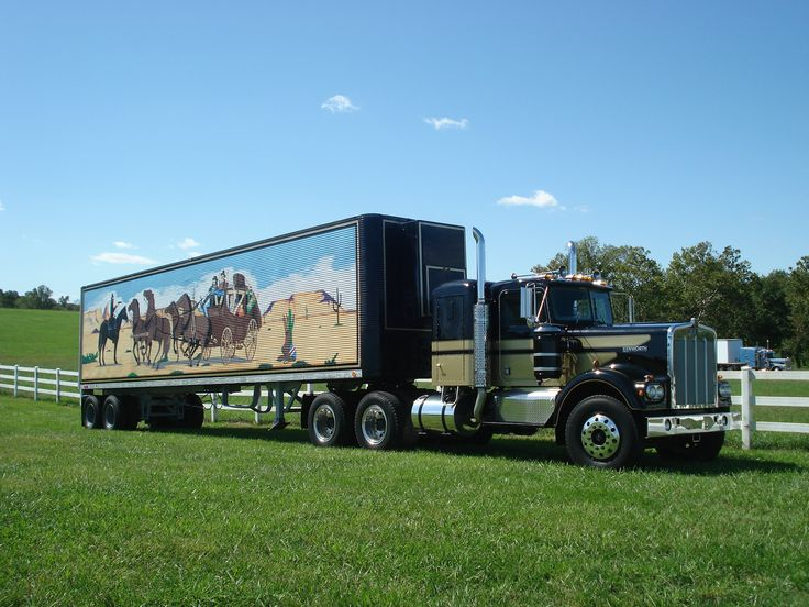 Smokey and the Bandit Tribute Truck- a 1973 Kenworth and 1977 Hobbs Trailer. Trailer painted by Gene Maynor of Lenoir, NC and tractor painted at Ferchos in Charlotte, NC.