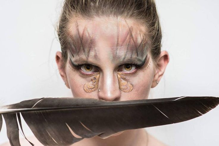 Creative makeup - feelibg fierce.   See this Instagram photo by @thesilentgallery • 69 likes