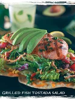 Bahama Breeze Grilled Fish Tostada salad (citrus vinaigrette recipe included)
