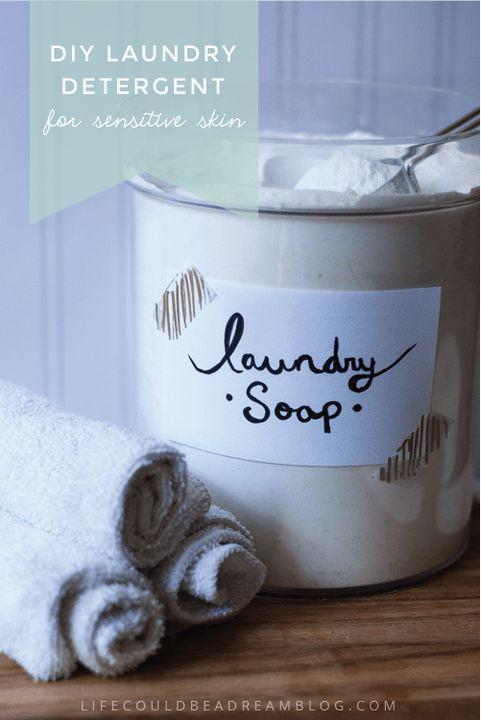 DIY Laundry Detergent For Sensitive Skin