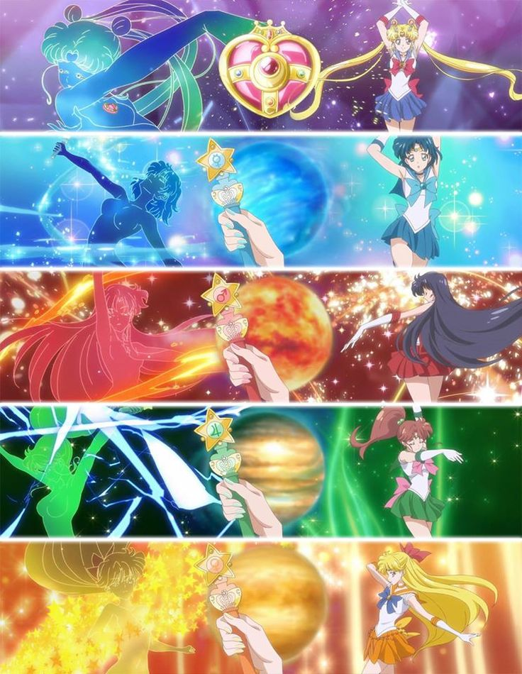 "dangerousperfectionparadise: ""Inner Senshi transformation's in SM Crystal III """