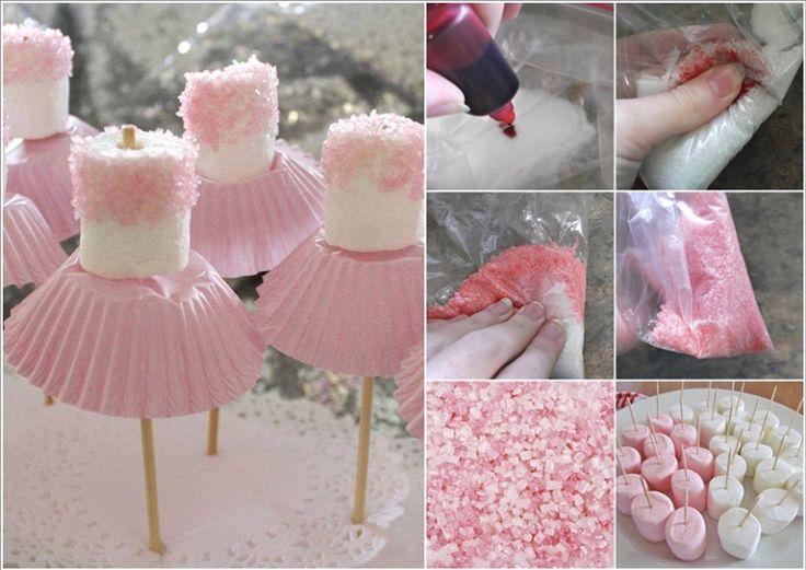 Cute Simple Marshmallow Ballerina Treats | DIY Tag