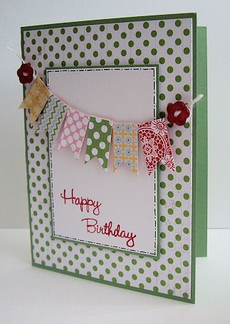 "#papercraft #card Stampin' Up!  Birthday Card  ""I would also add their name on the pendants if fit"""