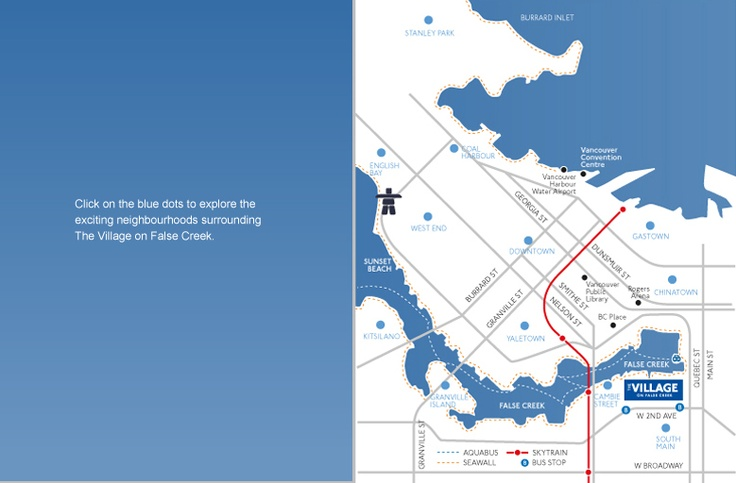 The Village of SE False Creek. Pretty cool map n' all. (#19Plus BCChildren.com)