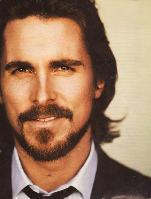 Christian Bale: he kinda looks like Someone you'd cast as Jesus in this picture.