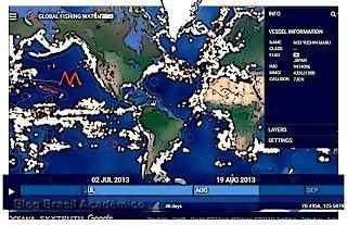 Veja a atividade pesqueira em tempo real  Ferramenta gratuita do Google mostra como se distribui a pesca no mundo pelo monitoramento dos barcos pesqueiros e ajuda a proteger áreas de proteção de espécies marinhas.  Oceana SkyTruth e Google lançaram no dia 15 de setembro a versão beta do Global Fishing Watch ou Observatório Global da Pesca uma nova plataforma tecnológica on-line que dá a qualquer pessoa acesso gratuito para monitorar e acompanhar as atividades dos maiores navios de pesca…
