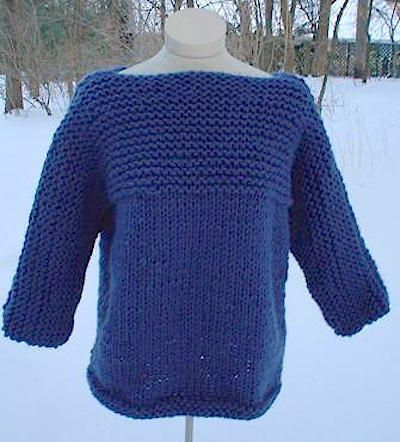free chunky knitting pattern pullover sweater