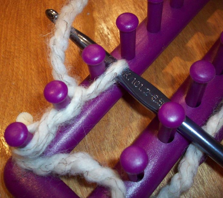 loom knitting stitches loom knitting single knit cast on - read from the bo...