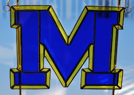 Hand made stained glass NCAA College sports by ManemannArt on Etsy, $35.00
