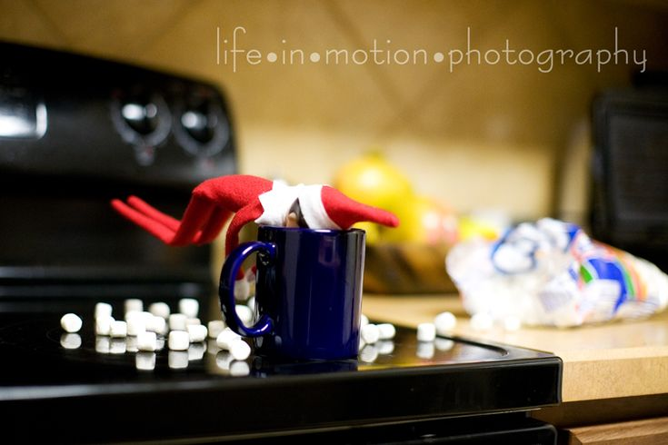 I spent a ridiculous amount of evening time posing and photographing our elf last year. Elf on the Shelf #Christmas  @