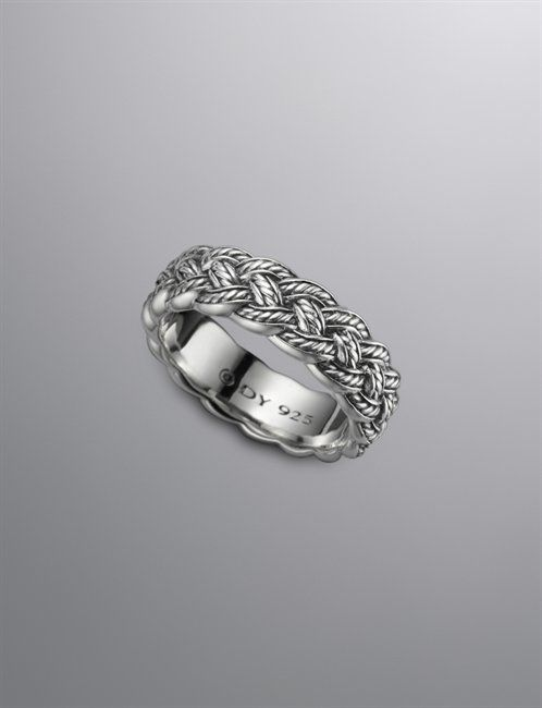 david yurman....i want this to replace my traditional 24 1/2 year old gold band