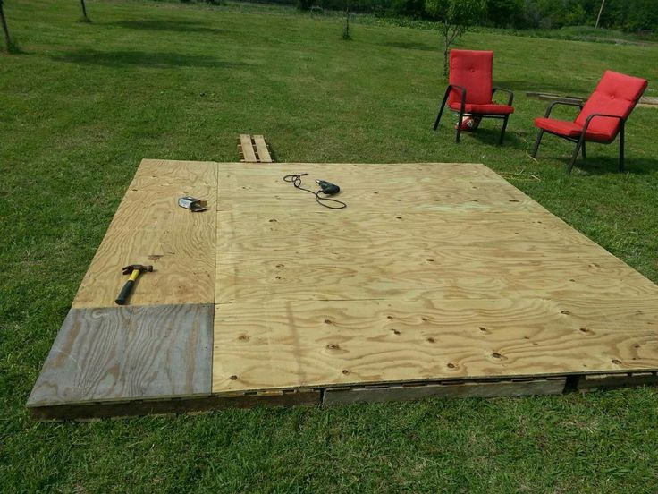 pallet patio part 3 this 10x10 patio took 2 4x8 sheets of marine - 10x10 Patio Ideas