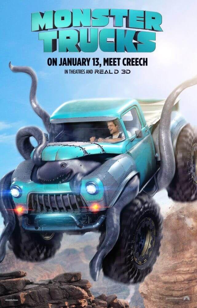 'Monster Trucks', a trama conta a história de Tripp (Lucas Till). Aluno do último ano..