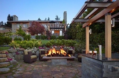 Patio contemporary patio: Fire Pits, Backyard Ideas, Outdoor Living, Dream House, Gelotte Hommas, Patio, Firepit, Outdoor Spaces