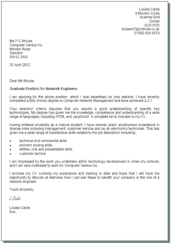 Cover Letter Template Uk Student | Cover letter template ...