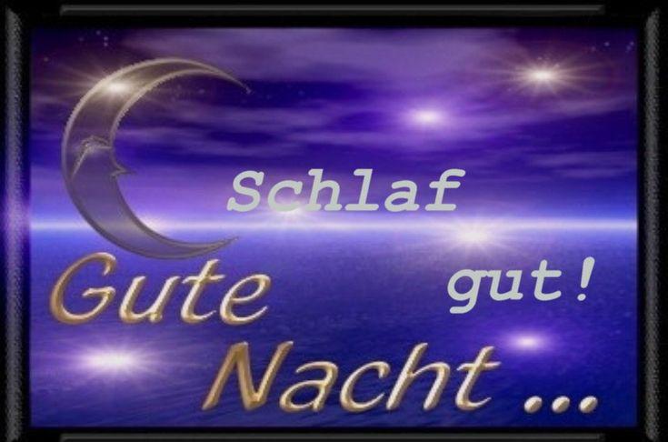 Открытка, открытка спокойной ночи на немецком языке
