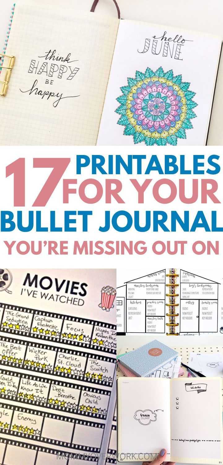 Definite inspiration for my bujo! There were some really unique printables to add to my collection and spreads. I really liked the idea for the gratitude jar and movie tracker. #bulletjournaladdict #bulletjournallove #bulletjournalprintable