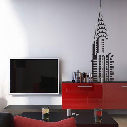 """Ornez votre intérieur avec ce magnifique sticker """"Chrysler building"""", symbole de l'extravagance et du gigantisme de New York."""