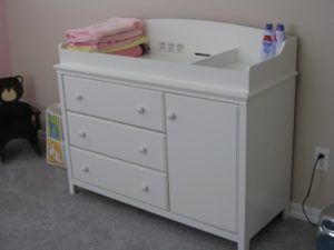 Baby Change Table With Drawers White