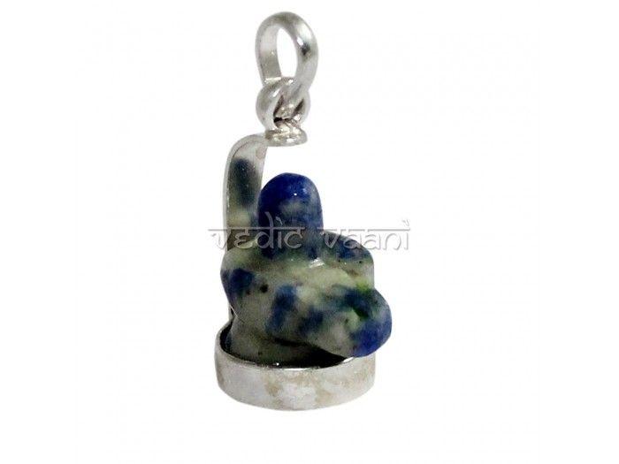 Shivling Locket in Lapis lazuli Gemstone buy online from Vedic Vaani.
