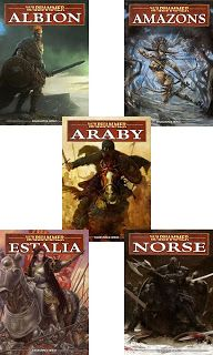 Warhammer Fantasy Book pdfs - Unofficial: Albion, Amazons, Araby, Estalia and Norse