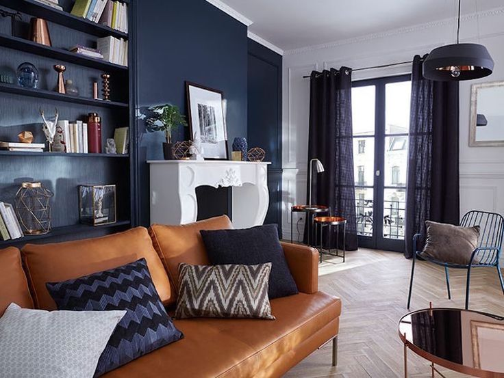 les 25 meilleures id es de la cat gorie salon bleu sur pinterest lounge po le a bois et. Black Bedroom Furniture Sets. Home Design Ideas