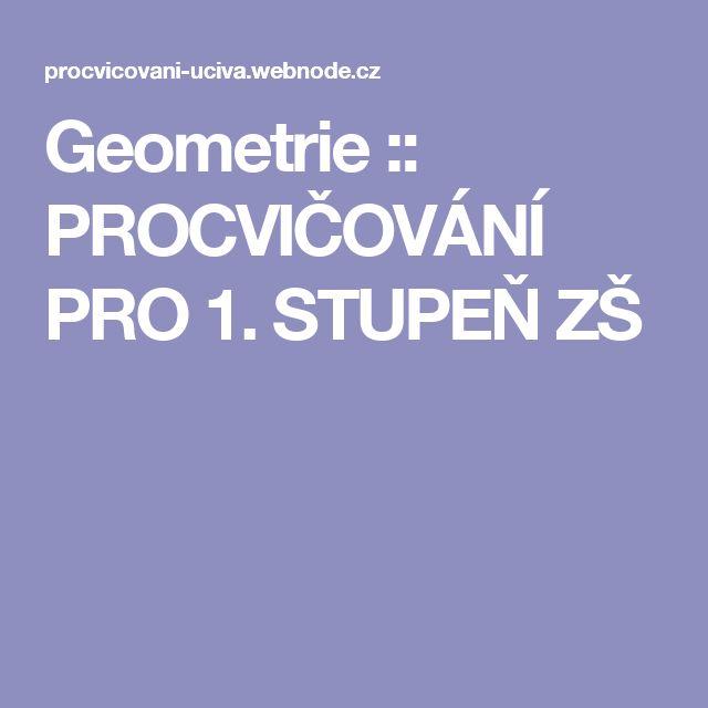 Geometrie :: PROCVIČOVÁNÍ PRO 1. STUPEŇ ZŠ