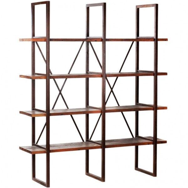 Pipe shelving unit unique shelving for books knick knacks for Unique shelving units