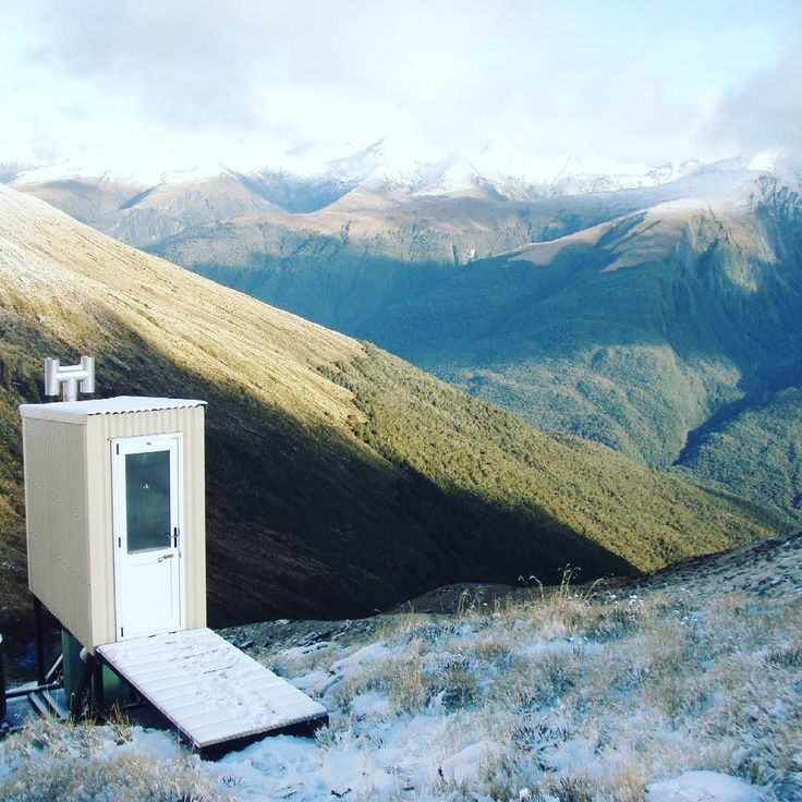 The Alpine Club's long drop has one of the best views in New Zealand by @nztramper •