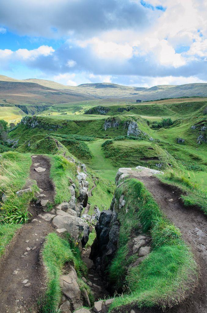 you see the fairy glen in scotland on isle of skye